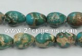 CAT05 15.5 inches 10*14mm teardrop natural aqua terra jasper beads