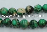 CAT220 15.5 inches 8mm round dyed natural aqua terra jasper beads