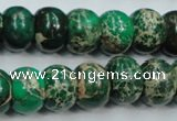 CAT60 15.5 inches 10*14mm rondelle dyed natural aqua terra jasper beads