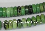 CAU28 15.5 inches 5*12mm rondelle australia chrysoprase beads wholesale