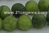 CAU514 15.5 inches 12mm round matte Chinese chrysoprase beads