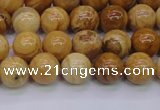 CAY03 15.5 inches 8mm round African yellow jasper beads wholesale