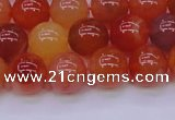 CBC415 15.5 inches 14mm AA grade round orange chalcedony beads