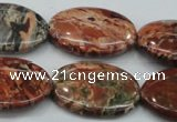 CBD04 15.5 inches 22*30mm oval brecciated jasper gemstone beads