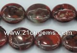 CBD06 15.5 inches 20mm flat round brecciated jasper gemstone beads