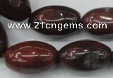 CBD11 15.5 inches 15*25mm rice brecciated jasper gemstone beads