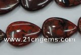 CBD34 15.5 inches 18*25mm flat teardrop brecciated jasper gemstone beads