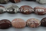 CBD72 15.5 inches 13*18mm oval brecciated jasper gemstone beads