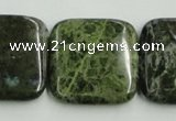 CBG18 15.5 inches 30*30mm square bronze green gemstone beads wholesale