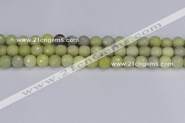 CBJ213 15.5 inches 10mm faceted round Australia butter jade beads