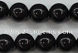 CBJ555 15.5 inches 12mm round Russian black jade beads wholesale