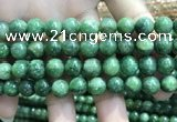 CBJ638 15.5 inches 10mm round Russian green jade beads wholesale