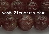 CBQ314 15.5 inches 12mm round natural strawberry quartz beads