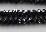 CBS513 15.5 inches 4*5mm faceted rondelle AA grade black spinel beads