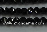 CBS528 15.5 inches 2.5*4mm lantern-shaped natural black spinel beads
