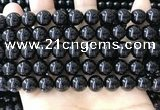 CBS543 15.5 inches 10mm round black spinel gemstone beads