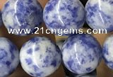 CBS606 15.5 inches 16mm round blue spot stone beads wholesale