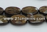 CBZ18 15.5 inches 15*20mm faceted oval bronzite gemstone beads