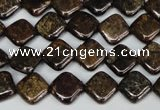 CBZ222 15.5 inches 10*10mm diamond bronzite gemstone beads