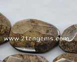 CBZ327 15.5 inches 20*30 – 30*40mm faceted freeform bronzite beads