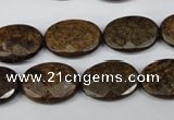 CBZ438 15.5 inches 13*18mm faceted oval bronzite gemstone beads