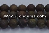 CBZ600 15.5 inches 4mm round matte bronzite beads wholesale