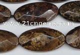 CBZ81 15.5 inches 15*30mm faceted oval bronzite gemstone beads