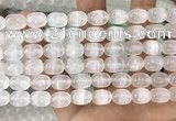 CCA379 15.5 inches 8*10mm rice white calcite gemstone beads