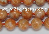 CCA453 15.5 inches 10mm round orange calcite gemstone beads