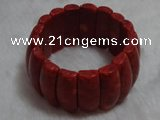 CCB103 7.5 inches coral hand crafted bracelet jewelry wholesale