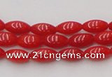CCB134 15.5 inches 4*8mm rice red coral beads strand wholesale