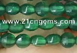 CCB548 15.5 inches 4mm faceted coin green agate beads