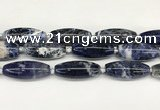 CCB780 15.5 inches 15*38mm – 16*40mm rice sodalite  beads