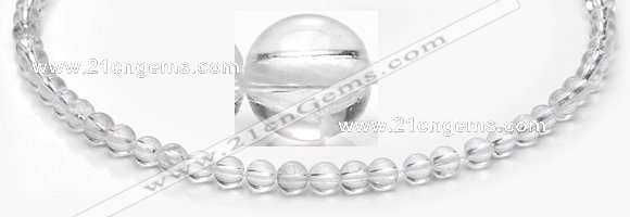 CCC35 15.5 inches 4mm round white crystal beads Wholesale