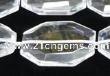 CCC752 15.5 inches 18*28mm faceted octagonal natural white crystal beads