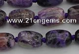 CCG111 15.5 inches 10*14mm drum charoite gemstone beads