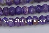 CCG116 15.5 inches 4*7mm rondelle charoite gemstone beads