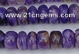 CCG117 15.5 inches 5*9mm rondelle charoite gemstone beads