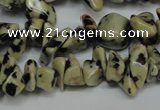 CCH228 34 inches 5*8mm dalmatian jasper chips gemstone beads wholesale