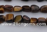 CCH670 15.5 inches 5*8mm - 6*10mm yellow tiger eye chips beads