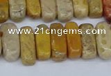 CCH713 15.5 inches 5*10mm - 5*15mm fossil coral chips beads