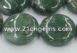 CCJ09 15.5 inches 25mm flat round natural African jade beads wholesale