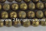 CCJ351 15.5 inches 8mm carved round plated China jade beads