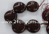 CCJ363 44mm carved coin China jade beads wholesale