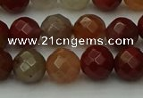 CCJ462 15.5 inches 8mm faceted round colorful jasper beads