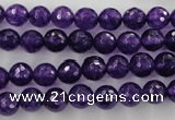 CCN1253 15.5 inches 8mm faceted round candy jade beads wholesale
