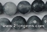 CCN1267 15.5 inches 16mm faceted round candy jade beads wholesale