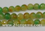 CCN1293 15.5 inches 8mm faceted round rainbow candy jade beads