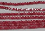 CCN1336 15.5 inches 3mm round candy jade beads wholesale