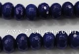 CCN1385 15.5 inches 8*12mm faceted rondelle candy jade beads
